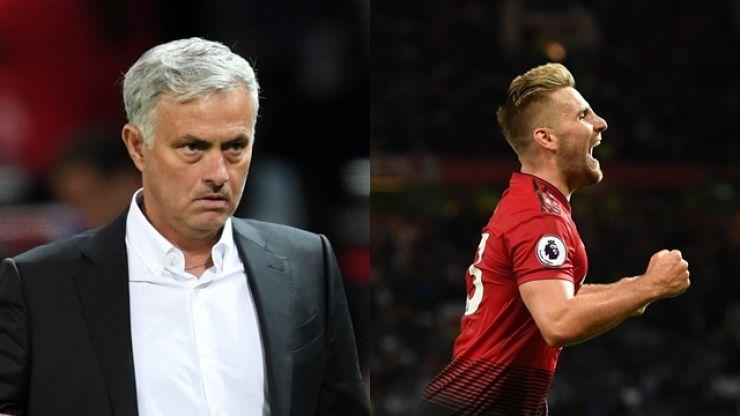 Jose Mourinho's reaction to Luke Shaw's goal didn't go unnoticed