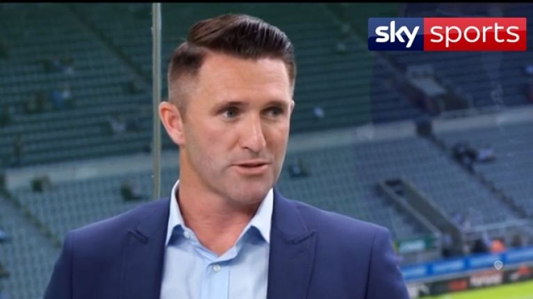 Robbie Keane made his punditry debut for Sky Sports on coverage of Spurs against Newcastle