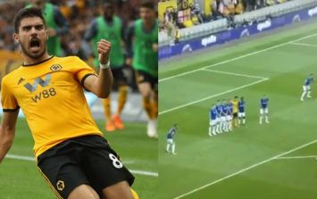 Everton will feel a serious sense of injustice over placement of Ruben Neves' free-kick