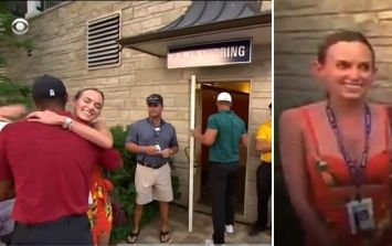 Tiger Woods' classy reaction to Brooks Koepka's win left his girlfriend Jena Sims stunned