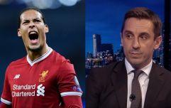 Gary Neville compares Virgil van Dijk to legendary Manchester United defender