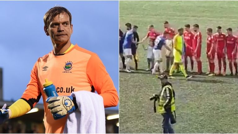 Former Man United goalkeeper Roy Carroll divides opinion for clear snub of Cliftonville players