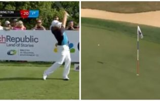 Padraig Harrington comes agonisingly close to sinking hole in one