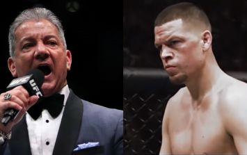 Nate Diaz and Bruce Buffer have struck up a very bizarre rivalry