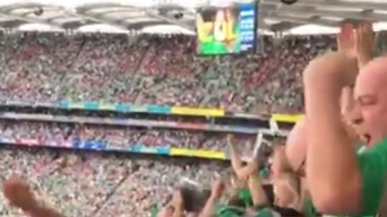 Fan footage shows Limerick fans erupt after Shane Dowling goal