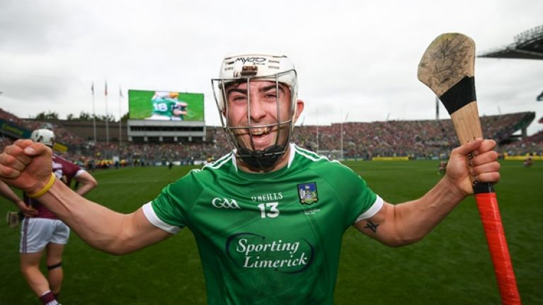 the limerick hurlers had a fitting gift for aaron gillane before all