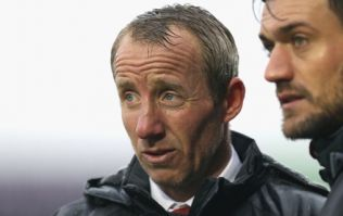 Lee Bowyer and Steve Evans clash on the touchline during League One game