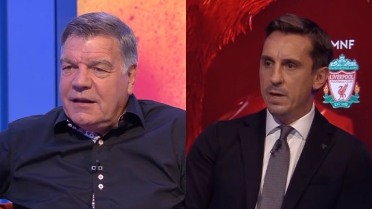 """Sam Allardyce claims Gary Neville """"thinks he's an expert"""" as he hits back at Sky Sports pundit"""