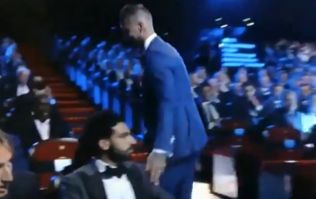 Sergio Ramos touched Mo Salah on the shoulder at the Champions League draw