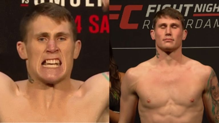 How Darren Till looked every time he stood on the UFC's scales