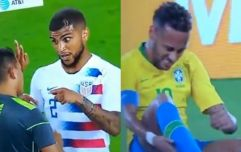 DeAndre Yedlin's comment to referee on a Neymar dive was perfect