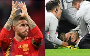 Sergio Ramos sends message of support to Luke Shaw after horrible blow