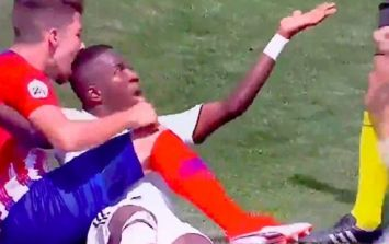 Real Madrid's Vinicius Jr. bitten on the head after scoring brace against Atletico Madrid's reserves
