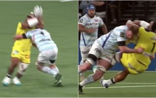 Donnacha Ryan lays out 20-stone 'Tongan Bear' with ferocious tackle