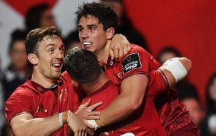 Joey Carbery's immediate reaction to his first Munster try was damn impressive