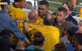 Wallabies flanker gets into scrape with fan following Argentina defeat