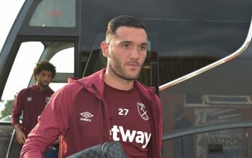 West Ham fans were furious after Lucas Perez appeared to refuse to warm up