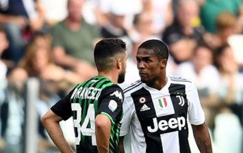 Douglas Costa apologies for spitting at Sassuolo's Federico Di Francesco