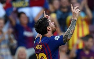 Lionel Messi scores outrageous free-kick in first Champions League tie of the season