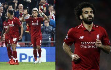 Mohamed Salah's reaction to Roberto Firmino's winner didn't go unnoticed
