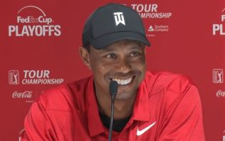 Tiger Woods' final answer of his press conference had the room in stitches