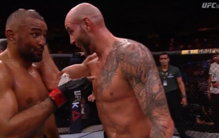 UFC star's gesture to finished foe was something else