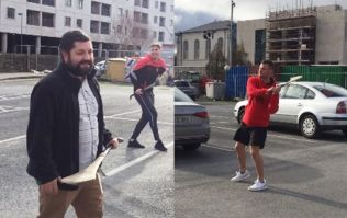 Three Waterford hurlers show Americans how to hurl in brilliant car-park lesson
