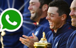 No-one seems safe on Europe's WhatsApp group when Rory McIlroy is about