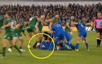 Connacht prop gets straight red card for awful head-stamp on Josh van der Flier