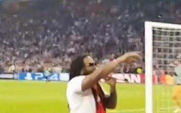 Bob Marley's son performs Three Little Birds during Ajax match