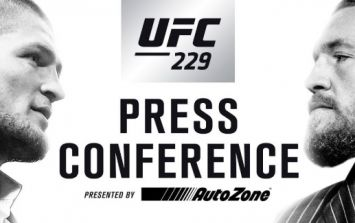 Watch Khabib vs McGregor press conference HERE