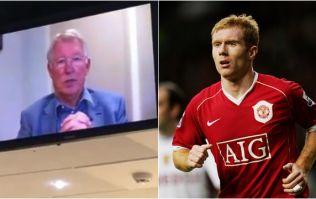 Alex Ferguson sent a lovely video message to Paul Scholes