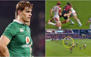 """""""I remember pushing the doctor away and thinking, ''Why is he dragging me to the touchline? Is he not on our team?!'"""" - Andrew Trimble"""