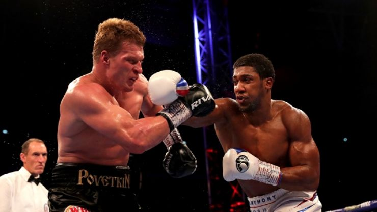 Anthony Joshua retains world titles with brutal knockout of Alexander Povetkin