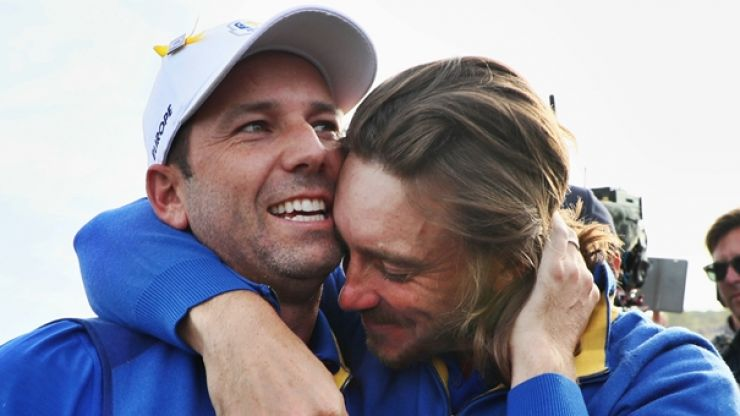 Sergio Garcia couldn't resist a cheeky dig after Ryder Cup triumph