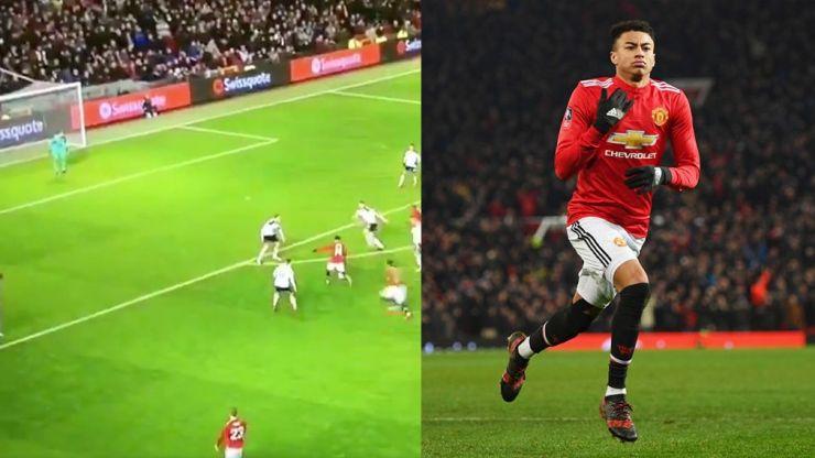 WATCH: Jesse Lingard scores an absolute screamer to help Man United beat Derby