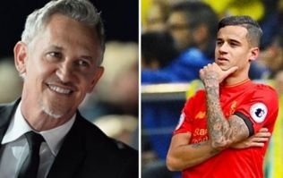 Gary Lineker's joke about the Coutinho transfer didn't go down too well