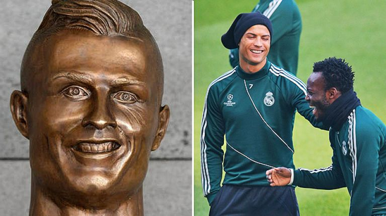 Michael Essien's bizarre statue in Ghana is even worse than Ronaldo's dodgy bust