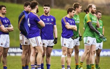 Stand footage of Meath and Longford's historic free-kick shootout