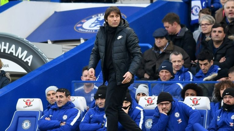 Chelsea fans unhappy with Antonio Conte after questionable substitutions in Leicester stalemate
