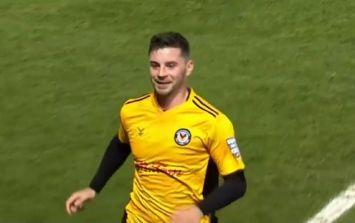 Carlow's Padraig Amond sends Newport 1-0 up against Tottenham Hotspur