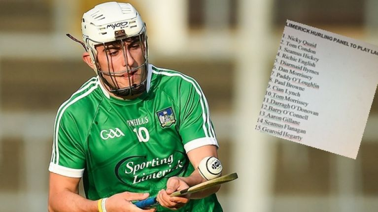 Limerick hurlers must be the youngest senior inter-county team in the GAA
