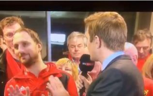 'Language my friend, we're a family show' - Munster fan swears on live television