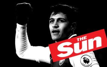Alexis Sanchez calls 'fake news' on The Sun