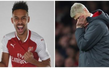 Arsenal's website mistakenly calls Aubameyang the club's second signing of the January window