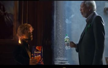Morgan Freeman and Peter Dinklage star in lip sync battle advert