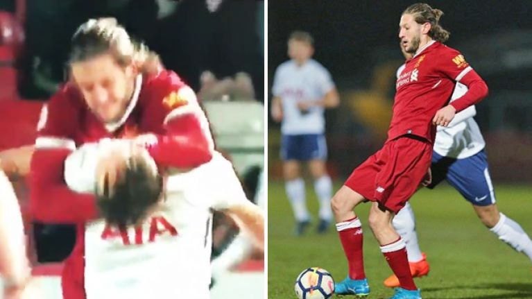WATCH: Adam Lallana sent off for manhandling Spurs player during U23 game