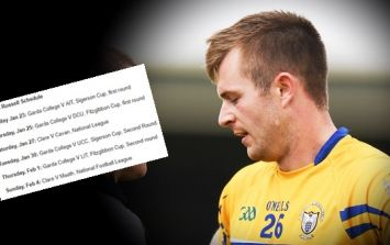Clare footballer's schedule of games over 12 day period is the biggest joke yet
