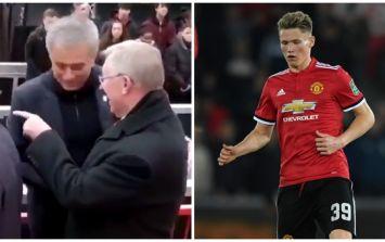 Manchester United fans reckon Fergie was bigging Scott McTominay up to Jose Mourinho