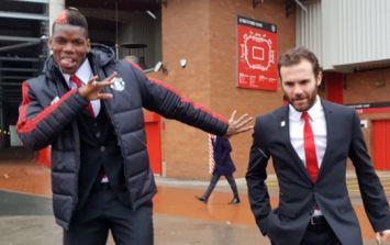 Paul Pogba and Juan Mata make disabled fan's day